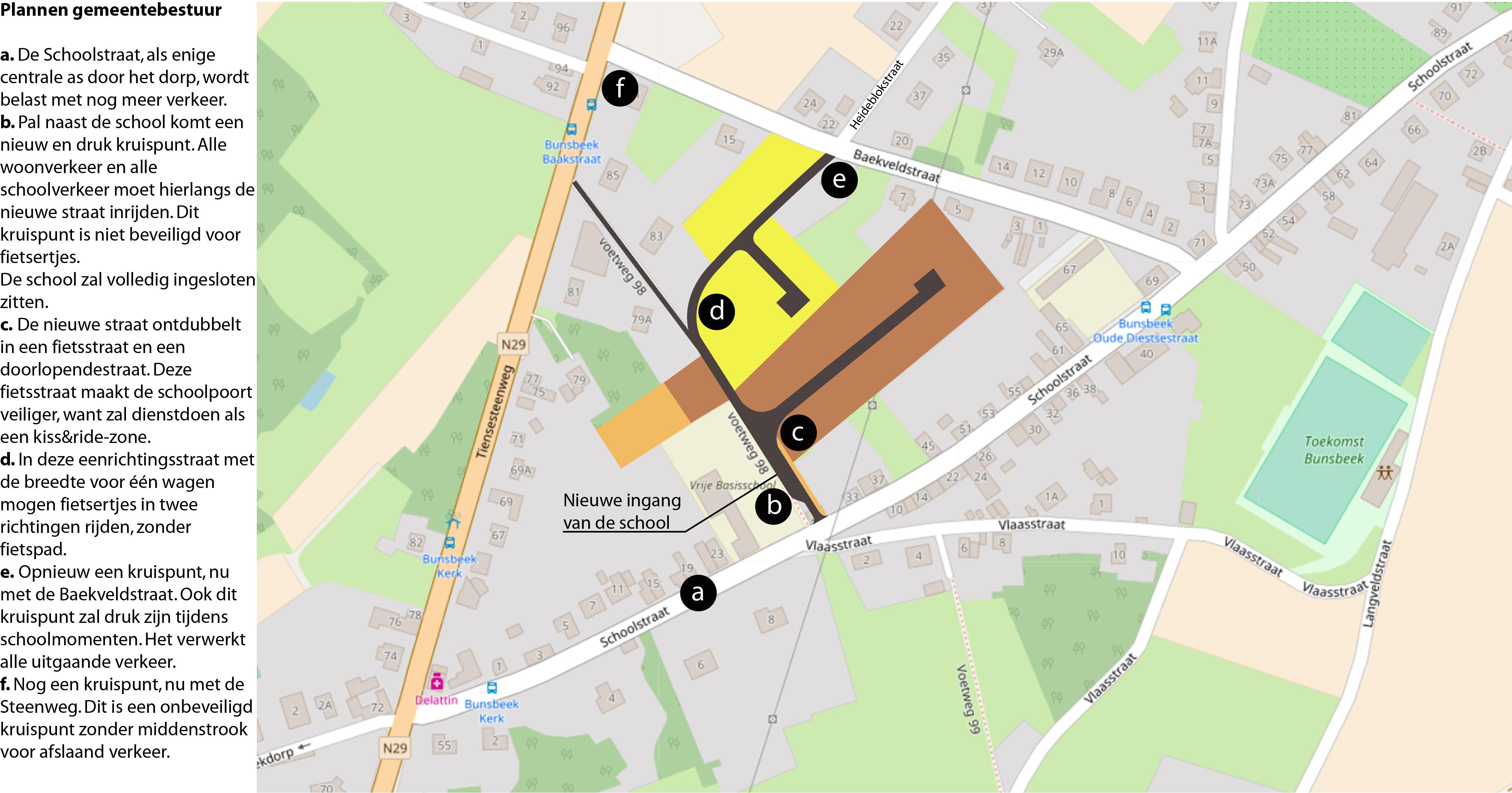 Schoolstraat Bunsbeek - plan gemeentebestuur