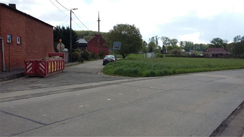 Kruispunt Butschovestraat met de Butschovestraat