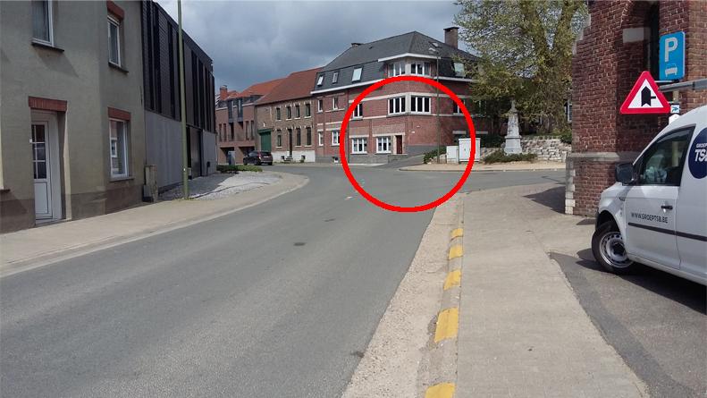 Kruispunt Dries met de Nieuwstraat en met de Meidoornstraat