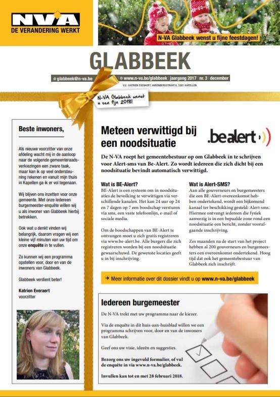 BE-Alert nu ook in Glabbeek