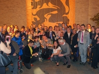 Zuhal Demir en Pieter Paul Moens met N-VA Glabbeek